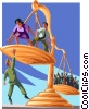 Vector Clipart illustration  of a balancing