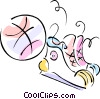 basketball, basketball shoes Vector Clipart picture