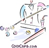 Vector Clip Art picture  of a shooting pool