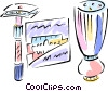 razor, shaving Vector Clipart illustration