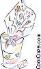 Vector Clipart graphic  of a bouquet of flowers