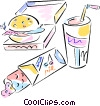 Vector Clip Art image  of a fast food