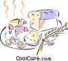 bread, croissant Vector Clip Art picture