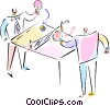 Vector Clip Art graphic  of a ping pong