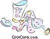 cowboy boots Vector Clip Art graphic