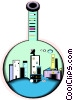 test tube city Vector Clip Art image
