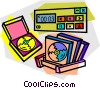 CD roms Vector Clipart illustration