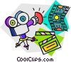 Vector Clipart illustration  of a movie camera