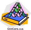Vector Clip Art image  of a house of cards