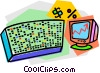 Vector Clip Art image  of a stock ticker