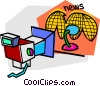 television studio Vector Clip Art picture