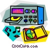 Vector Clipart graphic  of a stereo
