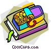 Vector Clip Art graphic  of a coins