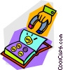 Vector Clipart picture  of a coin book