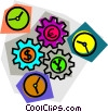 gears Vector Clipart graphic
