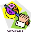 Vector Clip Art image  of a pie chart