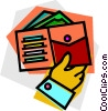 Vector Clipart picture  of a wallet
