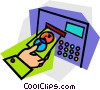 Vector Clip Art graphic  of a computers