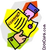 Vector Clipart illustration  of a contract