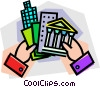 Vector Clip Art image  of a real estate