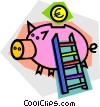 Vector Clipart image  of a piggy bank