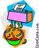 paper shredder Vector Clipart illustration
