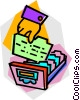 Vector Clipart graphic  of a card catalogue