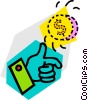 Vector Clip Art image  of a coin toss
