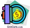 Vector Clip Art image  of a bank vault