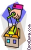 Vector Clipart picture  of a home