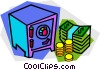 money, safe Vector Clipart graphic