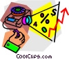 Vector Clip Art graphic  of a slide projector