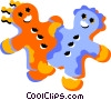 Vector Clipart illustration  of a gingerbread men