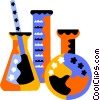 beaker, flask, test tube Vector Clipart graphic
