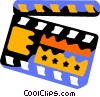Vector Clipart graphic  of a clap board