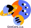 Vector Clipart graphic  of a planets