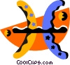 Vector Clip Art image  of an astrology Pisces