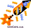 Vector Clip Art graphic  of a Fireworks