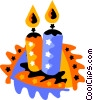 Vector Clipart image  of a candles
