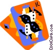 Vector Clipart illustration  of a playing cards