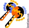 maracas Vector Clip Art graphic