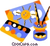 Vector Clip Art picture  of a paint brush