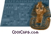 tutankhamen Vector Clipart illustration