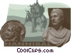 Vector Clip Art image  of a Hannibal statue