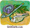 Vector Clip Art picture  of a Snorkeling equipment