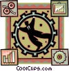 Vector Clip Art image  of a business motif