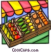 Vegetable stand Vector Clip Art picture