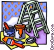 Vector Clip Art graphic  of a painting equipment