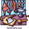 meat grinder Vector Clipart graphic