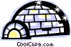 Vector Clipart graphic  of a igloo